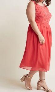 NWOT Modcloth Beaded Pleated Mini Dress size 1X